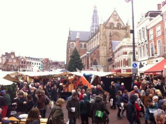 Haarlem's Grote Markt during the annual Christmas
