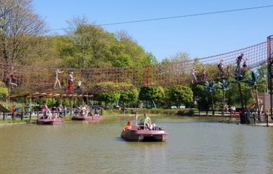 Linnaeushof playground near Haarlem is fun for families with young kids